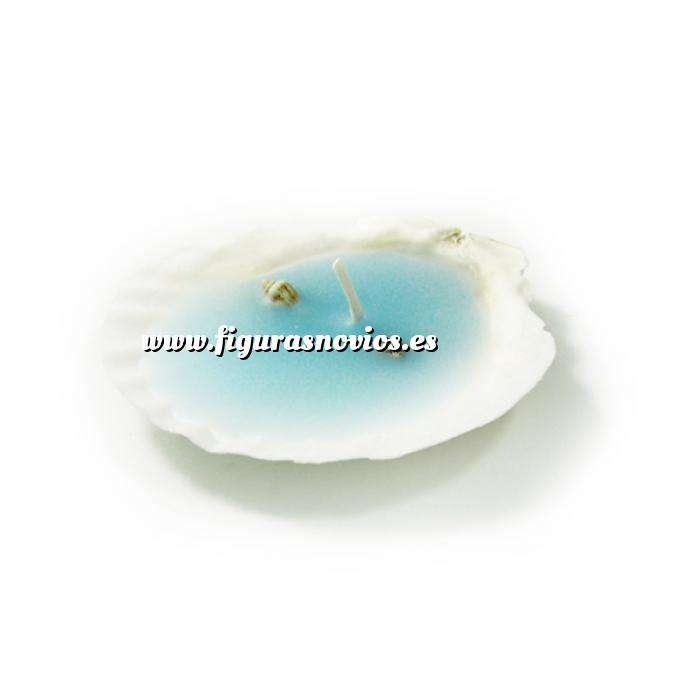 Imagen Detalles de Bautizo Vela Concha Azul (Últimas Unidades)