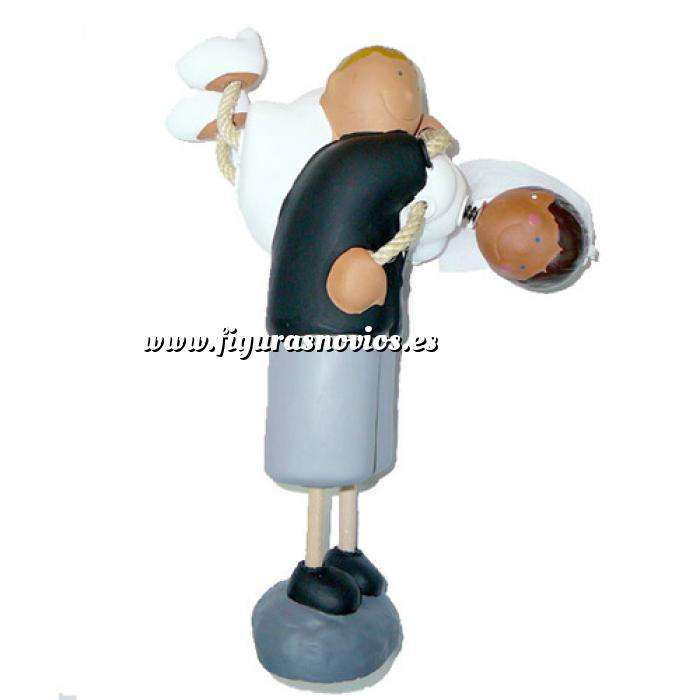 Imagen Novios Tarta Divertidos Figura Pastel Novia a hombros (Bubinots)