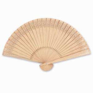Abanicos de Sándalo 21 cms - Abanicos Calados de Sándalo - 20 cm (OFERTA VERANO) (Últimas Unidades)