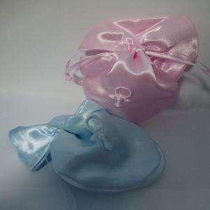 Detalles de Bautizo - Bolsita chupete rosa y/o azul