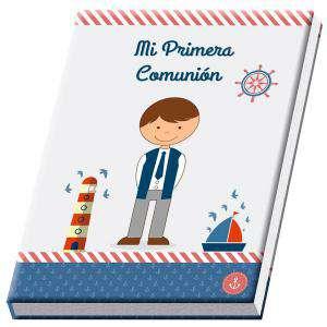 Detalles y libros de firmas Co - LIBRO COMUNIÓN EN CAJA DE REGALO NIÑO