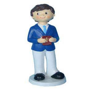 Figuras de Comunión - Figura Tarta Comunión Niño con libro