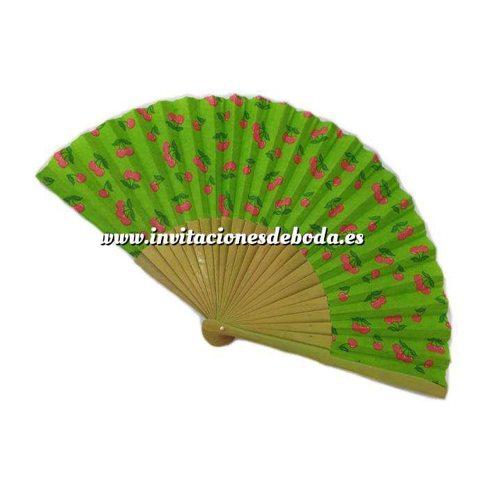Imagen Abanico de Frutas Abanico de frutas - Modelo Natural con estampado de Cerezas