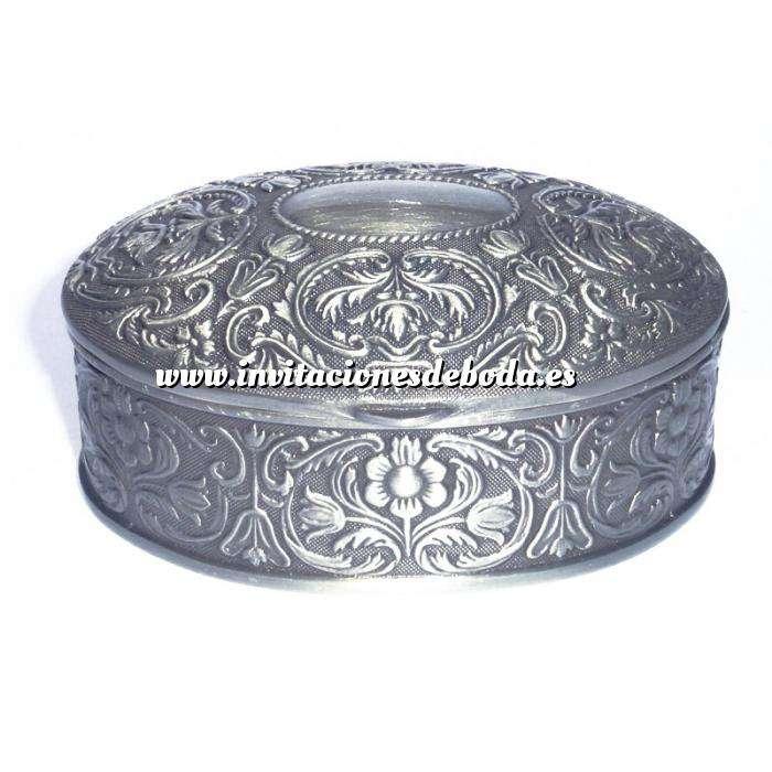 Imagen Bandejas y Cofres Cofre Metal Ovalado 8.5x6.5x3