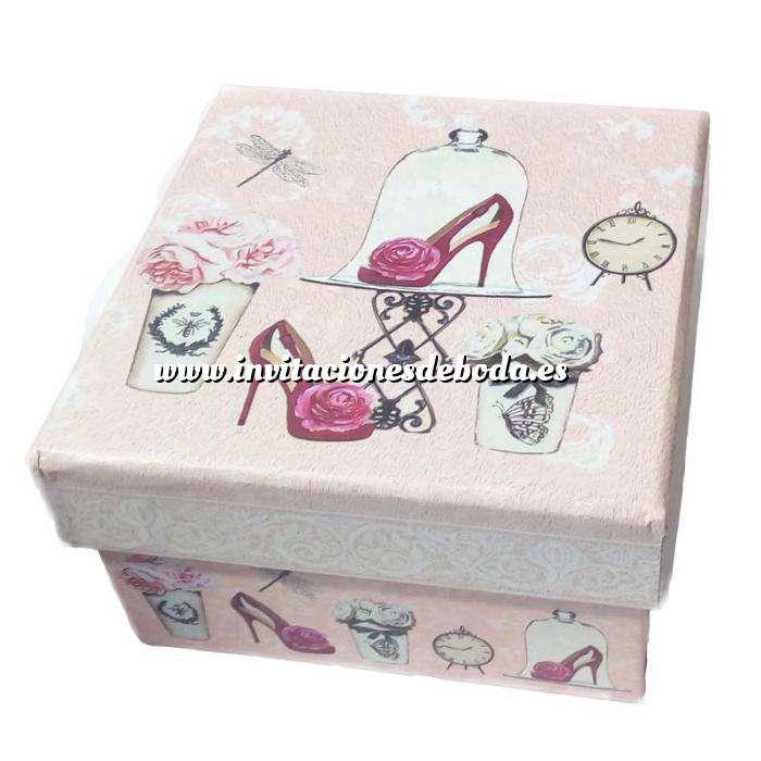 Imagen Cajitas para regalo Caja rosa vintage 9.5 x 9.5 x 5.5 MODELOS SURTIDOS