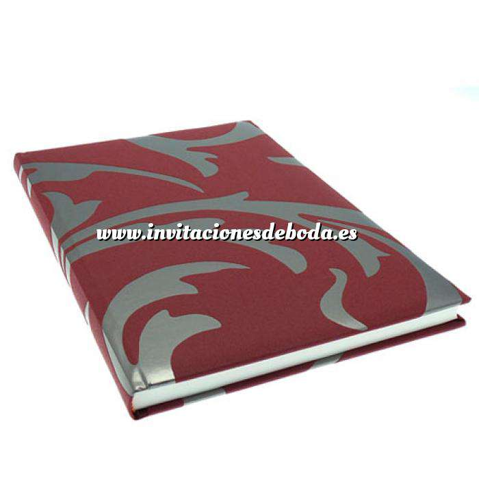 Imagen Clásicos Libro de Firmas LOUIS Burdeos Plata