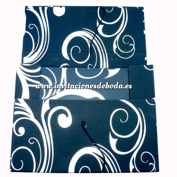 Imagen Clásicos Libro de firmas apaisado Rizos B/N más maletín (POR ENCARGO - NO STOCK)