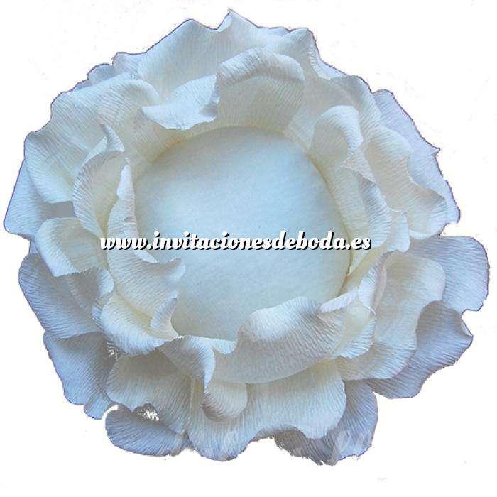 Imagen Complementos Alfileres Bouquet Alfileres ROSA BLANCA DE PAPEL