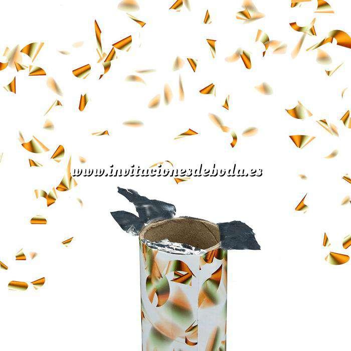 Imagen Detalles para la ceremonia Tubo Cañón Confeti laminas DORADO 80cm