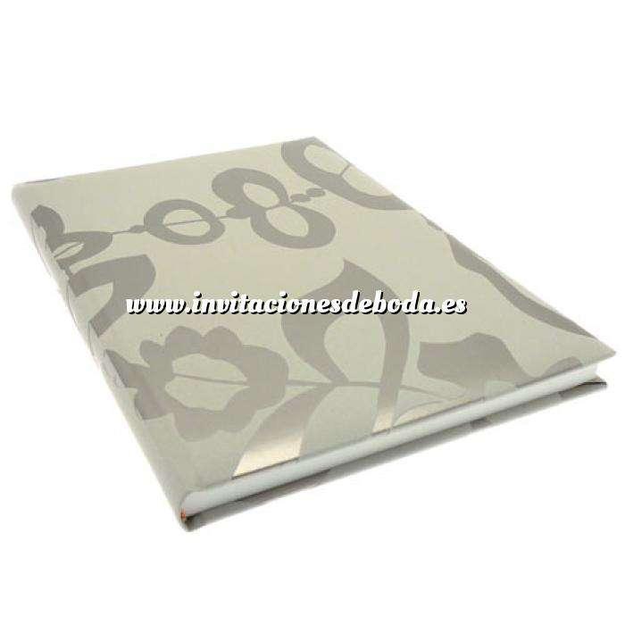 Imagen Floral Libro de Firmas CAMILA Cool Grey (Últimas Unidades)