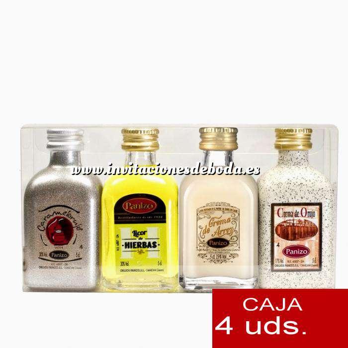 Imagen Licores, Orujos y Crema Estuche 4 mini orujos Panizo 5cl (OFERTA LIMITADA)