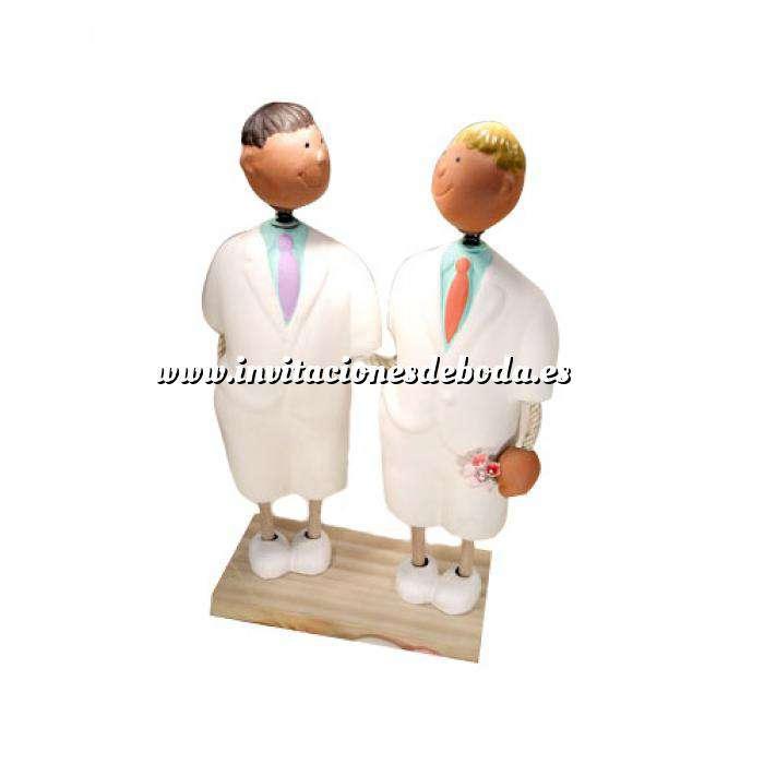 Imagen Novios Tarta Modernos Figura Pastel Chicos (Bubinots) (Últimas Unidades)