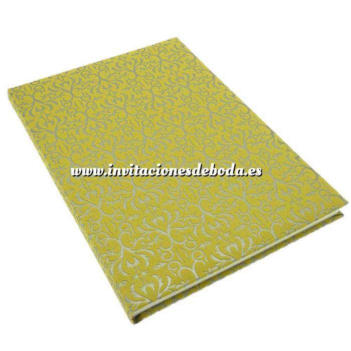 Imagen Textura Libro de Firmas BAROKKI Amarillo