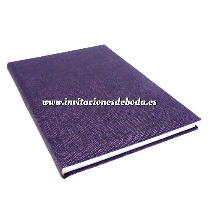 Imagen Textura Libro de Firmas CAÑAMO morado