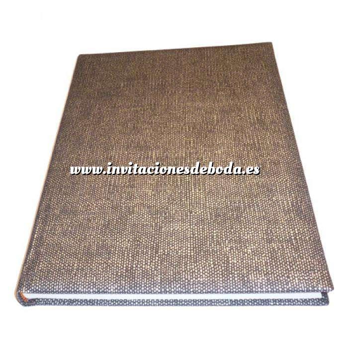 Imagen Textura Libro de Firmas CAÑAMO negro (Últimas Unidades)