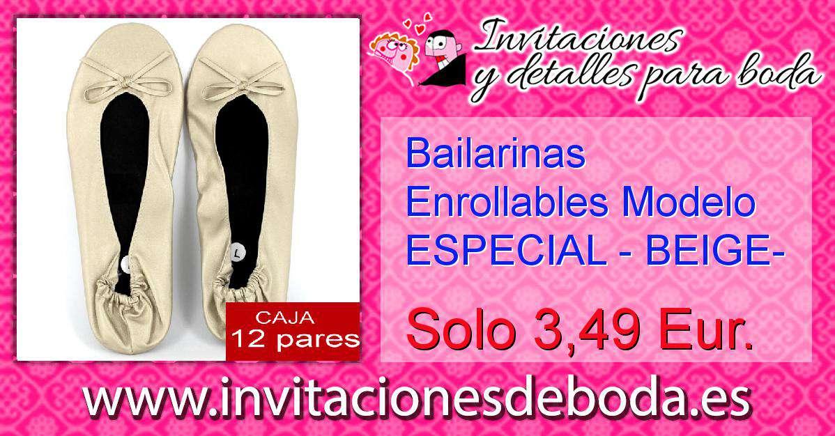 df86a9c3c72 Bailarinas Enrollables Modelo ESPECIAL - BEIGE- Lote de 12 ...
