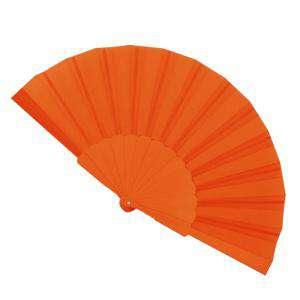 Abanico Económicos - Abanico de tela Naranja Butano (con varillas de plástico) (Últimas Unidades)