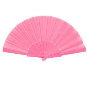 Abanico Económicos - Abanico de tela Rosa (con varillas de plástico) (Últimas Unidades)
