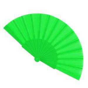 Abanico Económicos - Abanico de tela Verde Pistacho (con varillas de plástico) (Últimas Unidades)