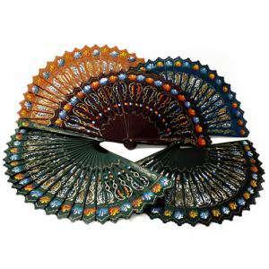 Abanico Pintado de 23 cm - Abanico Alhambra Pintado 2 Caras