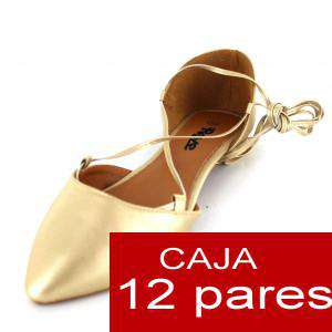 Alta Calidad - Sandalias Style BEIGE - Caja de 12 pares (Ref.: Oro pu 15C0749) (Últimas Unidades)