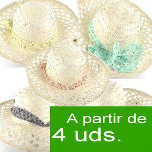 Detalles para la ceremonia - Sombrero - Pamela de Ala Larga Calada con cinta colores surtidos Ref. 47975