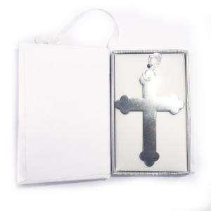 Detalles y libros de firmas Co - Marcapáginas Comunión - Cruz Plateada con Borla en caja Biblia