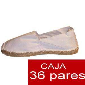 Hombre Cerradas - Alpargatas cerradas HOMBRE color Blanco Tallaje 40-46 caja 36 pares (Últimas unidades)
