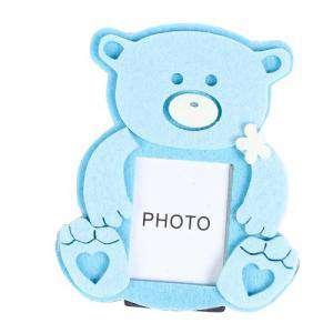 Marcos y decoración - Marco de Fotos Osito Fieltro Azul (Últimas Unidades)