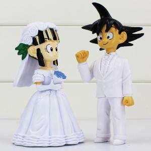Novios Tarta Divertidos - Muñeco Boda Goku y Chichi