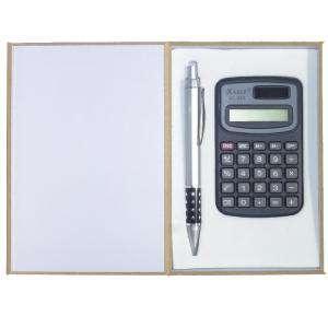 Para Hombre - set bolígrafo y calculadora en caja de madera (Últimas Unidades)