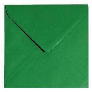 Sobres Cuadrados - Sobre verde oscuro Cuadrado - Verde Navidad