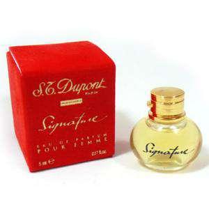 -Mini Perfumes Mujer - Signature Eau de Parfum for Femme by S.T. Dupont 5ml. (Letras DORADAS) (Últimas Unidades)