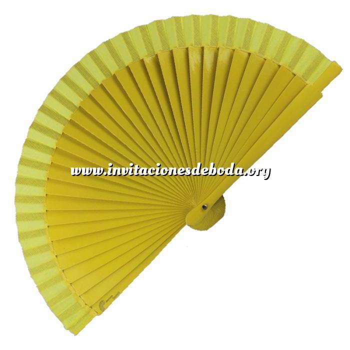 Imagen Abanico Liso 16 cm Abanico Liso 16 cm Amarillo Mostaza (Últimas Unidades)