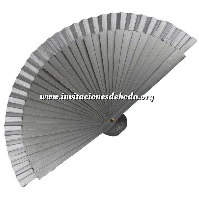 Imagen Abanico Liso 16 cm Abanico Liso 16 cm Gris Plata (Últimas Unidades)