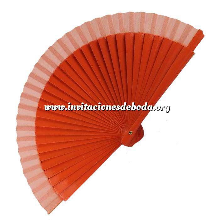 Imagen Abanico Liso 16 cm Abanico Liso 16 cm Naranja (Últimas Unidades)