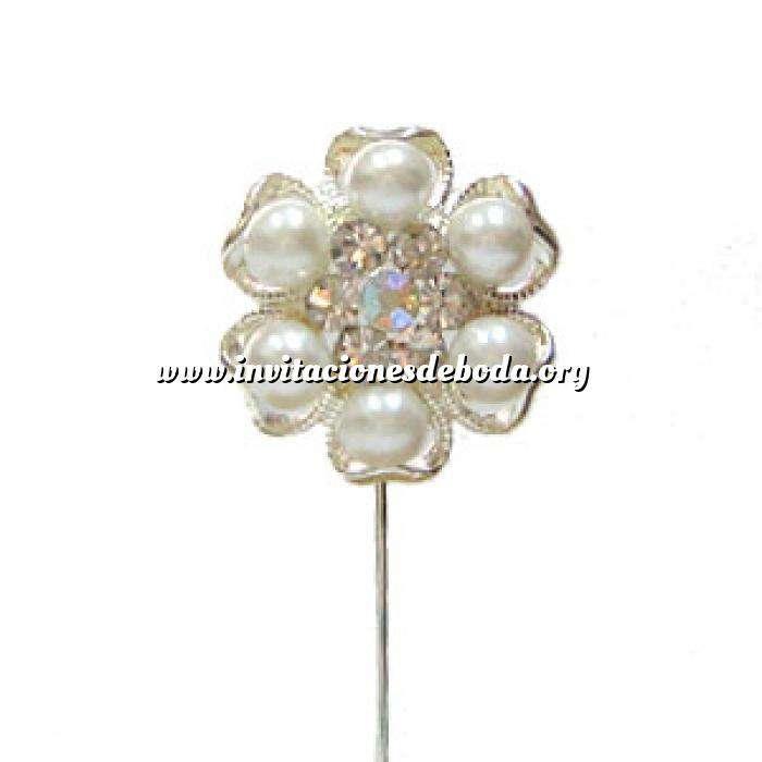 Imagen Alfileres especiales Alfiler Especial 42 (perla- flor plata)