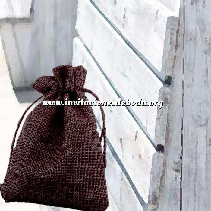 Imagen Bolsas de Yute 10x14 cm Bolsa de Yute Marrón Chocolate 10x14 capacidad 9x11 cms.