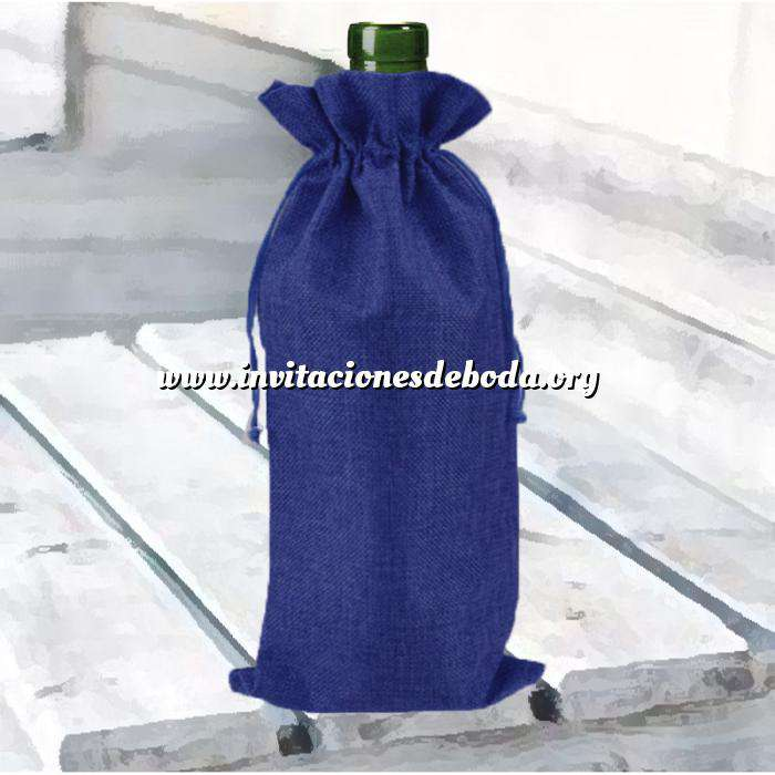 Imagen Bolsas de Yute 16x36 cm Bolsa de Yute Azul Marino 16x36 capacidad 15x31 cms.