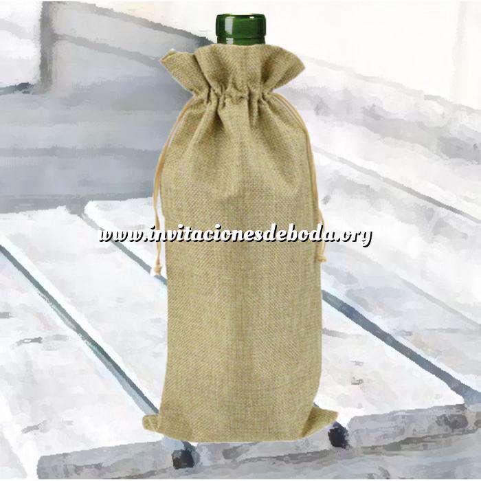 Imagen Bolsas de Yute 16x36 cm Bolsa de Yute Natural TONO CLARO 16x36 capacidad 15x31 cms. (Últimas Unidades)