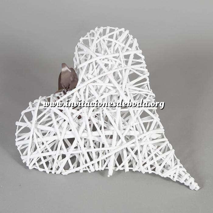 Imagen Cestas Regalos Corazón mimbre blanco colgante (Últimas Unidades)