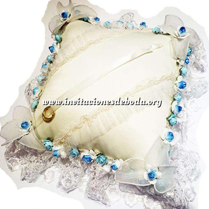 Imagen Cestas y Cojines Cojín Alianzas Flores Azules (Últimas Unidades)