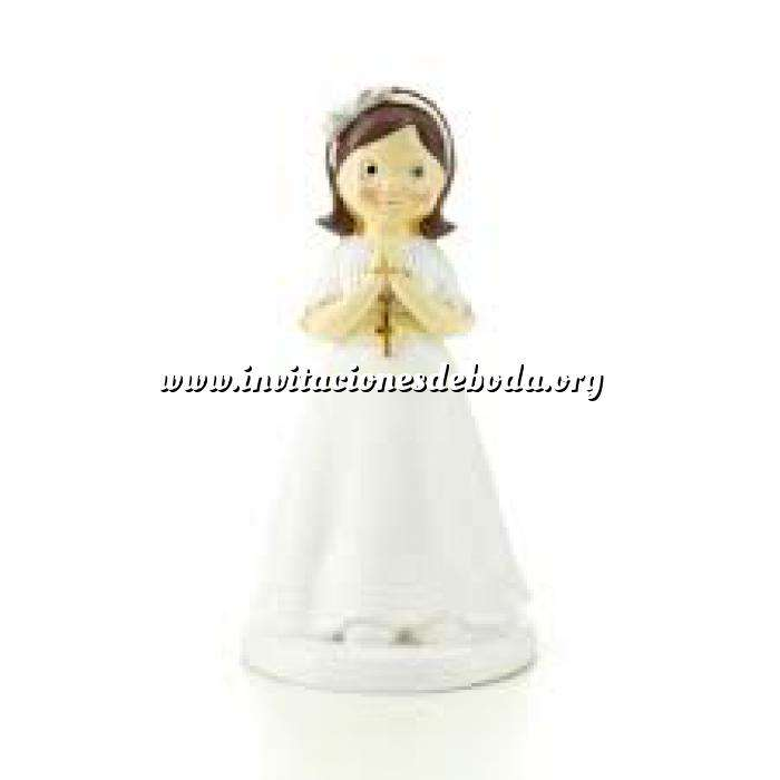Imagen Figuras de Comunión Figura Tarta Comunión Niña con rosario en la mano y diadema con lazo (Últimas Unidades)