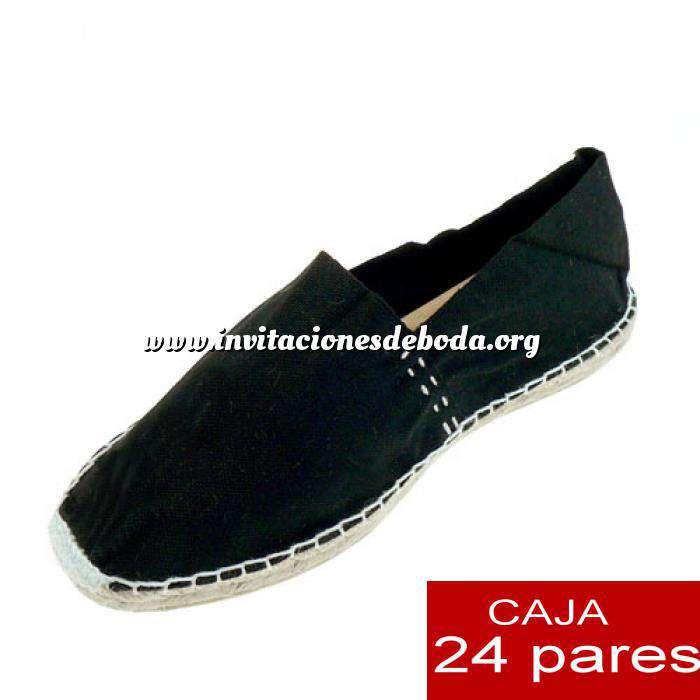 Imagen Hombre Cerradas Alpargatas cerradas HOMBRE color negro Tallaje 40-46 -caja 24 pares (TIENDA)