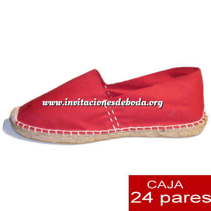 Imagen Hombre Cerradas Alpargatas cerradas HOMBRE color rojoTallaje 40-46 -caja 24 pares (TIENDA)