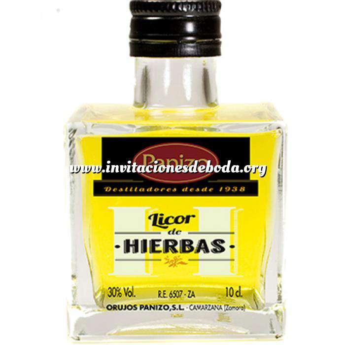 Imagen Licores, orujos y crema Mini orujo de hierbas Panizo 10cl