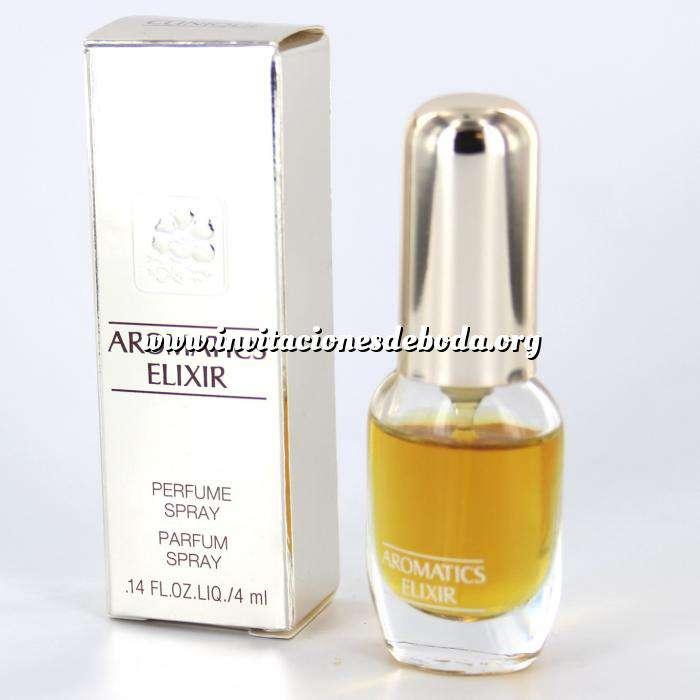Imagen Mini Perfumes Mujer Aromatics Elixir (CAJA PLATEADA ESPEJO - DETERIORADA) Perfume Spray by Clinique 4ml. (Últimas Unidades)