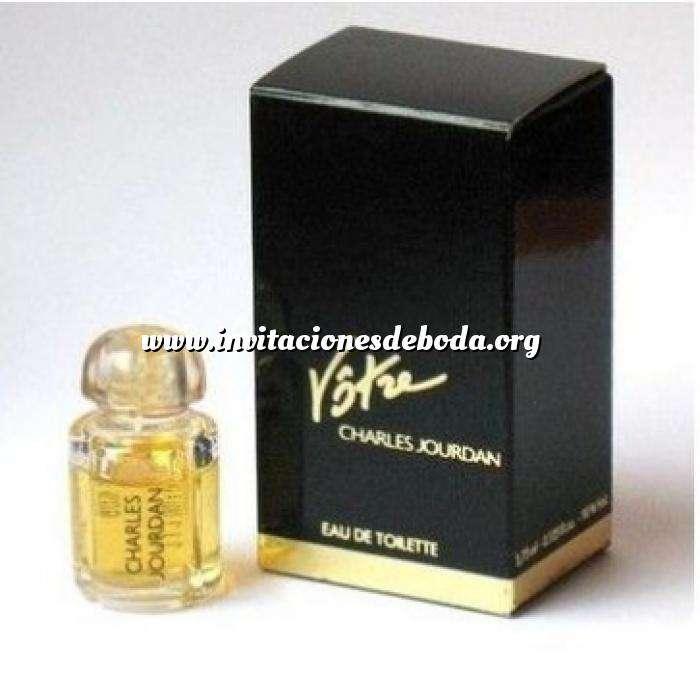 Imagen Mini Perfumes Mujer Votre Eau de Toilette by Charles Jourdan 3.75ml. CAJA DORADA Y AZUL (Últimas Unidades)