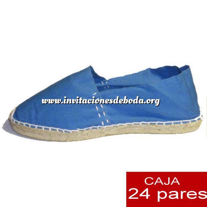 Imagen Mujer Cerradas Alpargatas cerradas MUJER color Azul Francia - caja 24 pares (Últimas Unidades)