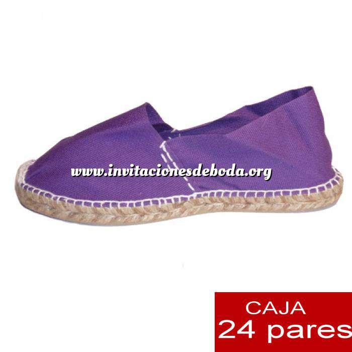 Imagen Mujer Cerradas Alpargatas cerradas MUJER color Morado - caja 24 pares